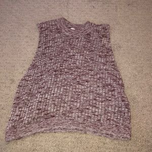 Knit muscle cropped tank top